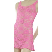 Stretch lace sleeveless dress-D16L