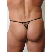 Fishnet g-string with open sheath and pouch