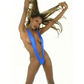 Spandex thong back suspender one piece suit